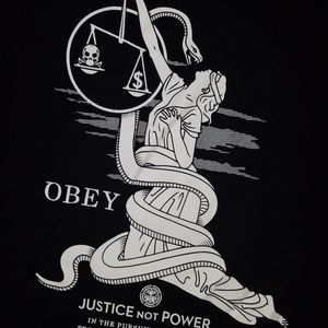 Obey Shirts - Obey Justice Not Power Graphic T-Shirt   M